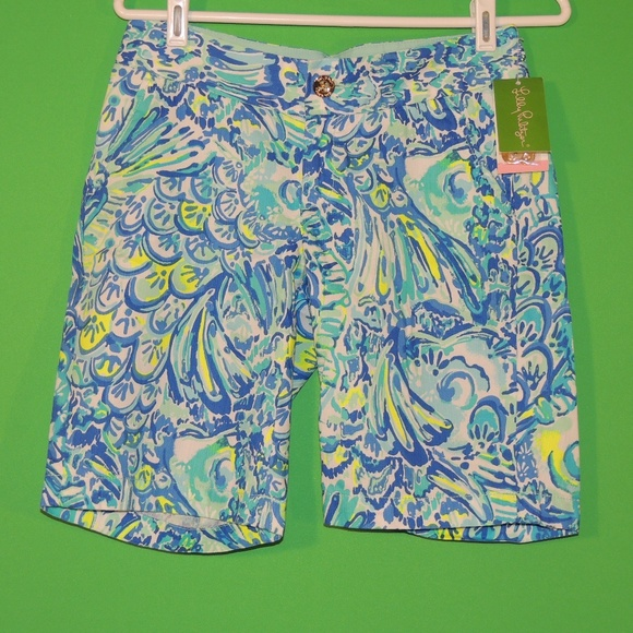 Lilly Pulitzer Pants - Lilly Pulitzer Womens 00 Blue Crush Shorts NEW